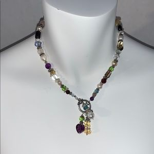 Jewelry - BEAUTIFUL GLASS, STONE, AND PEARL TOGGLE NECKLACE